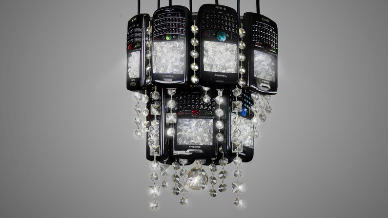 BlackBerry chandelier