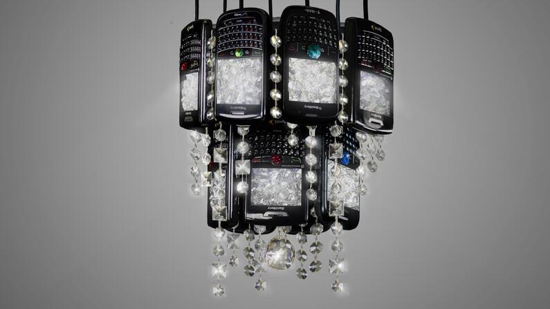 BlackBerry chandelier