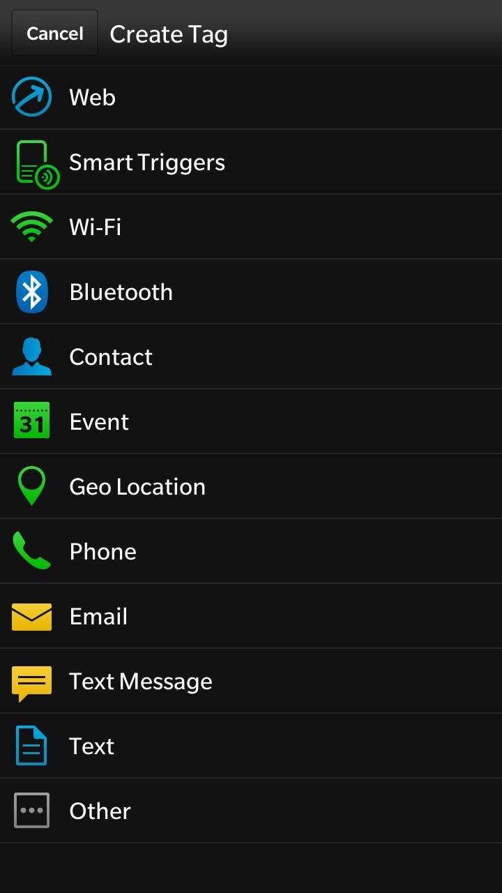 BlackBerry 10.2 Smart Tags