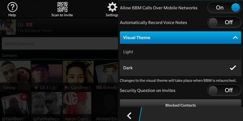 how to change visual theme on blackberry os 10 2. Black Bedroom Furniture Sets. Home Design Ideas