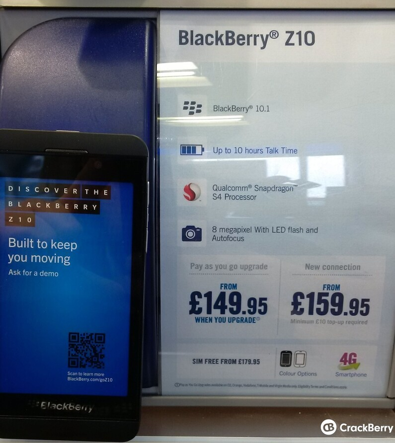 Uk retailer carphone warehouse cut the price of the for Blackberry z10 carphone warehouse leak