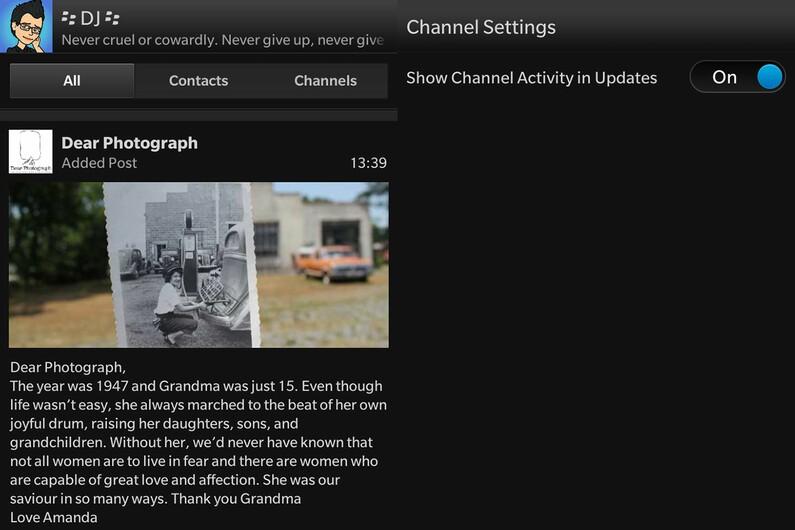 BBM Channel Update Activity