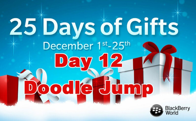 Doodle Jump - Day 12 of BlackBerry's 25 Days of Gifts