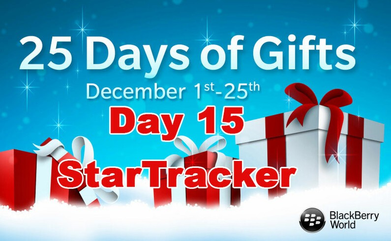 StarTracker - Day 15 of BlackBerry's 25 Day of Gifts