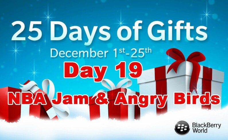 NBA Jam and Angry Birds - Day 19 of BlackBerry's 25 Days of Gifts