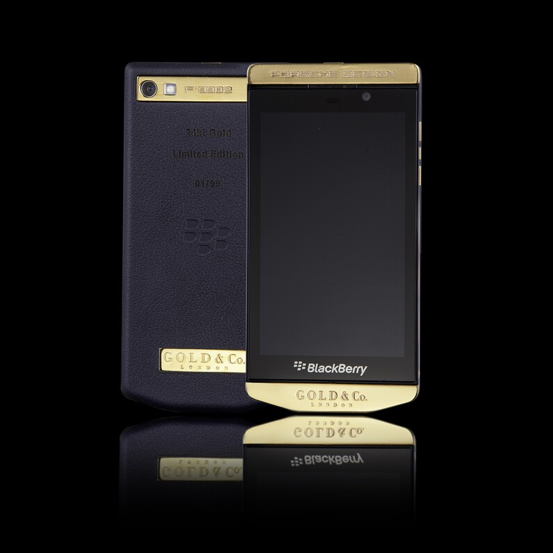 Galaxy blackberry porsche design p 9982 gold bad about