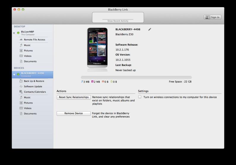 blackberry z10 software for mac
