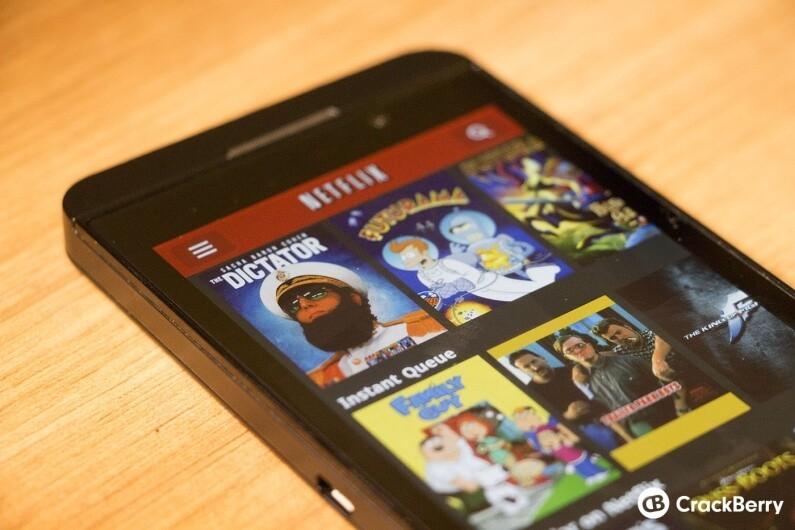 Netflix on BlackBerry 10