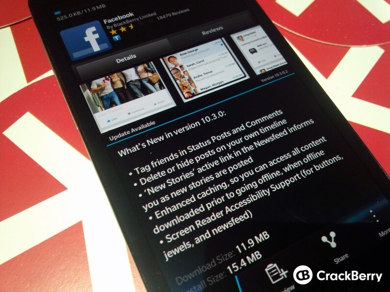 Facebook for BlackBerry 10 adds the ability to tag friends, hide posts and more in new update!