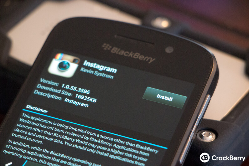 Instagram on BlackBerry 10