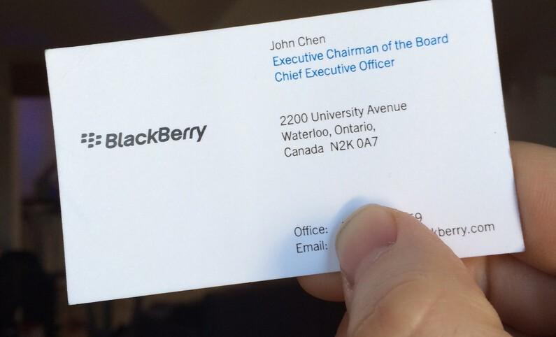 BlackBerry CEO, John Chen