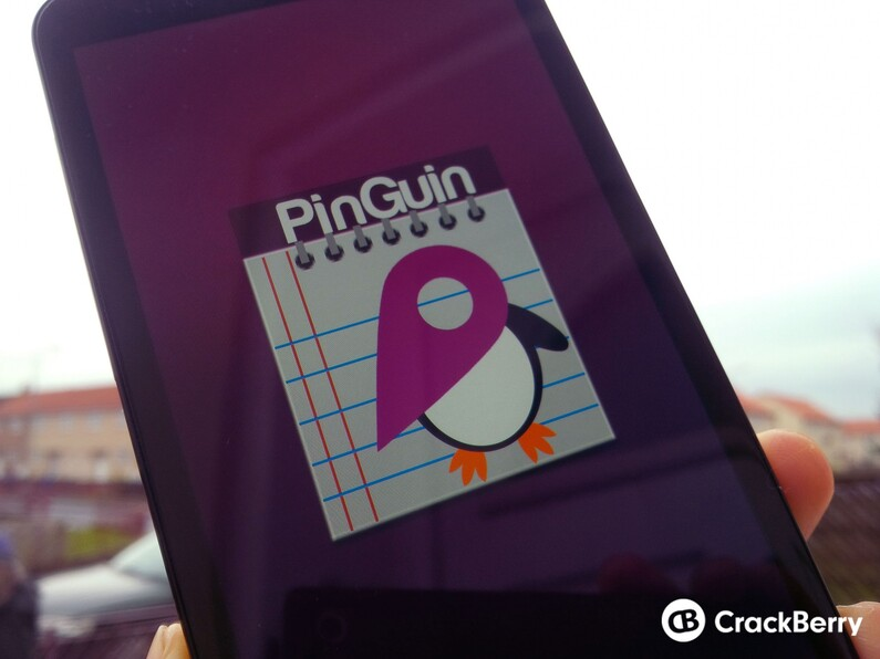 Log your favorite destinations with PinGuin for BlackBerry 10