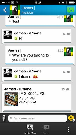 BBM 2.0 iOS new chat
