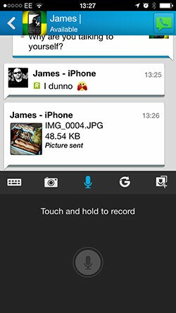 BBM 2.0 iOS push-to-talk