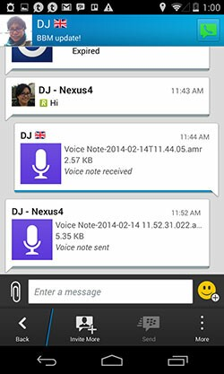 BBM 2.0 new chat window