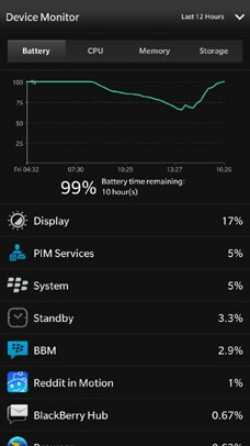Device Monitor Battery Status