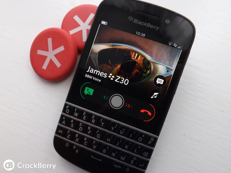 BlackBerry 10 call screen