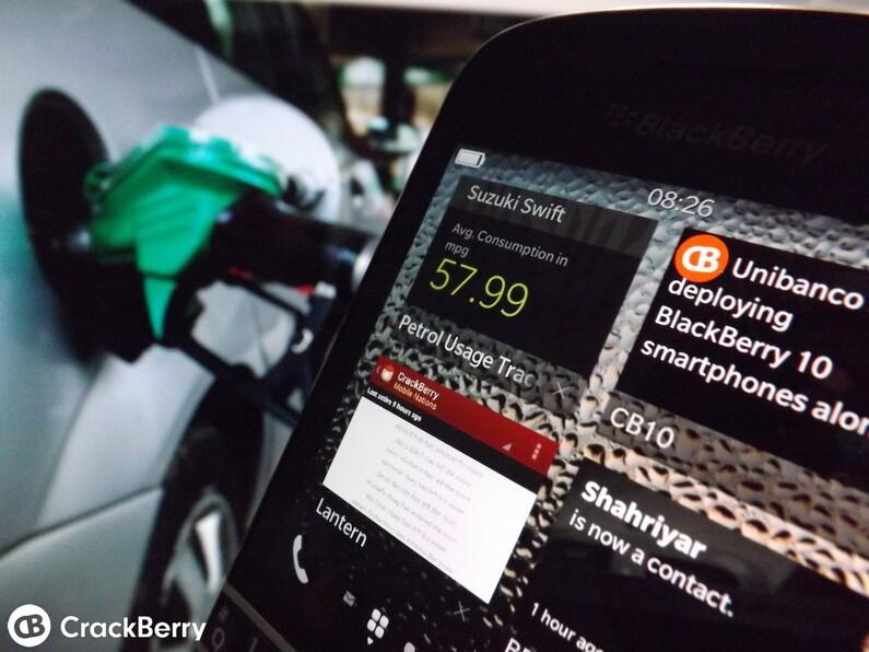 Petrol Usage Tracker BlackBerry 10