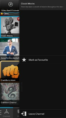 Mark BBM Channel as Favorite