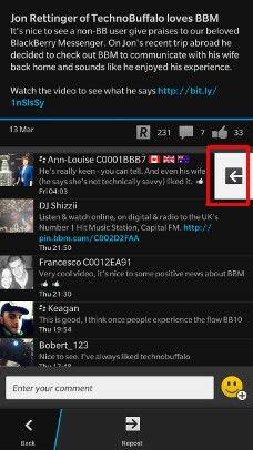 BBM Channels reply option