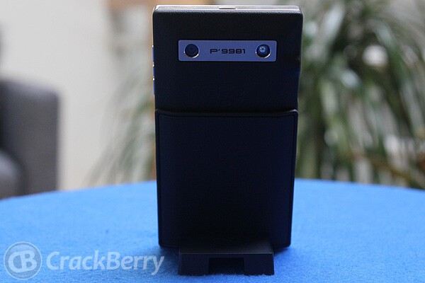 The P'9981 from the back, in its charging stand