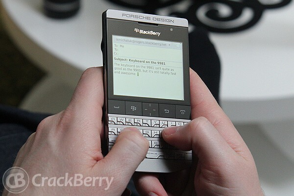 It's a good keyboard. Not as good as the Bold 9900's, but it's still pretty damn good