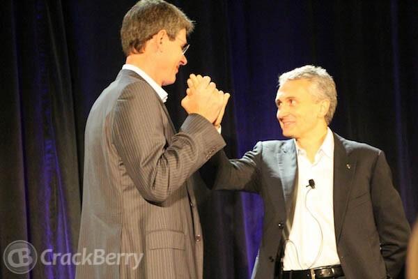 CEO Thorsten Heins and CMO Frank Boulben