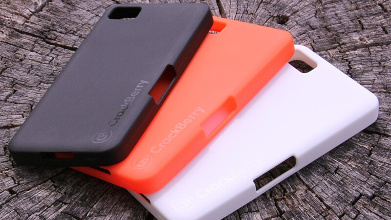 The CrackBerry Crunk Case is available in black, orange and white