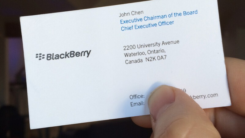 BlackBerry CEO, John Chen