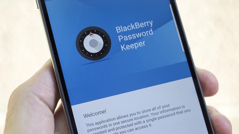 BlackBerry Password Keeper app launching screen