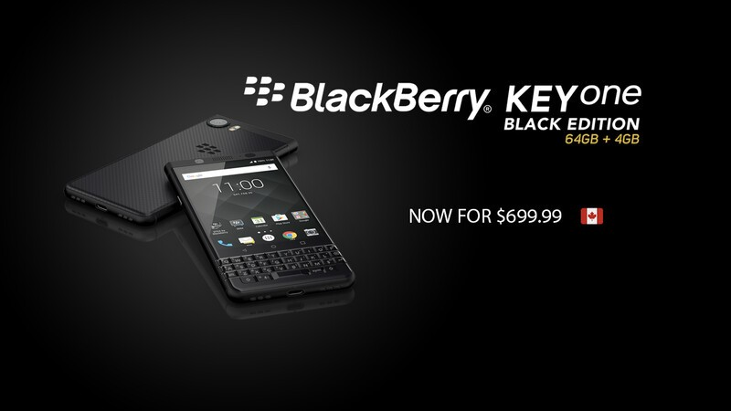 Canadians can save $100 on the BlackBerry KEYone Black Edition right now!
