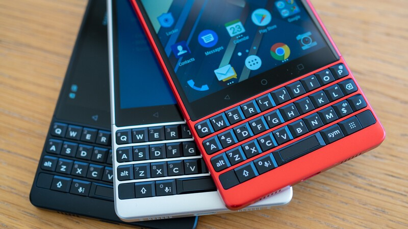 BlackBerry KEY2 in red, silver and black