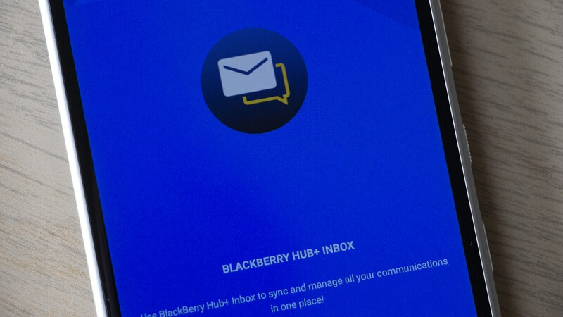 How to add apps to the BlackBerry Hub+ Inbox