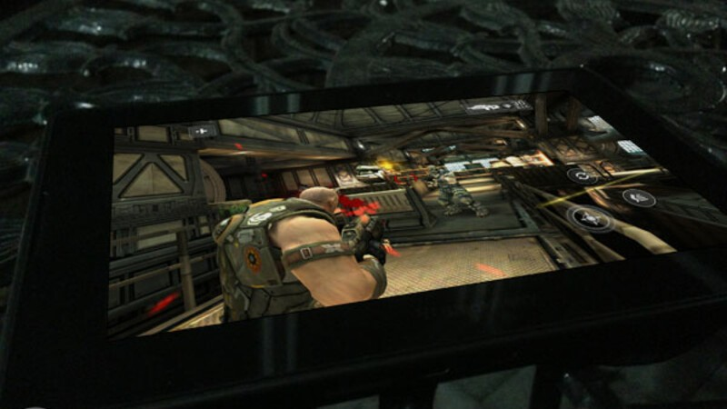 Take the battle out of this world in ShadowGun for the BlackBerry PlayBook