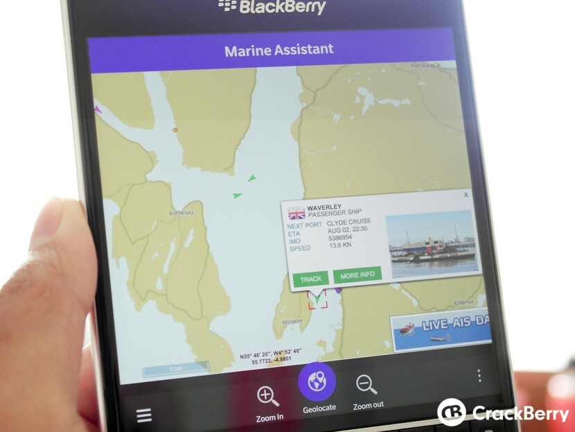 AIS Vessel tracking app Marine Assistant update with weather