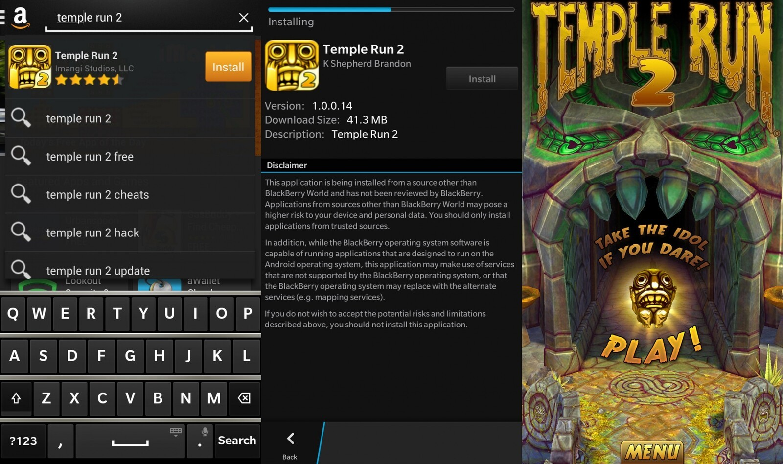 temple run 2 blackberry download