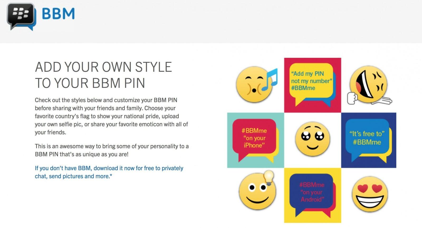 Bbm pins online now