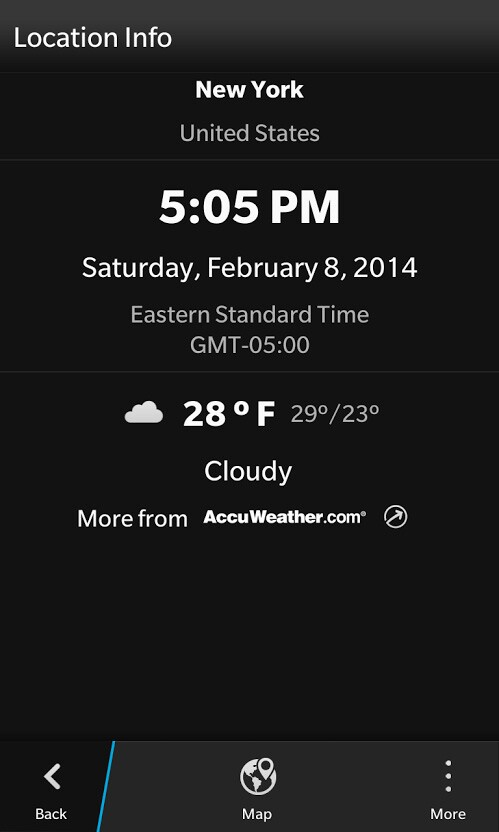 How to display AccuWeather information on the OS 10 2 1 clock
