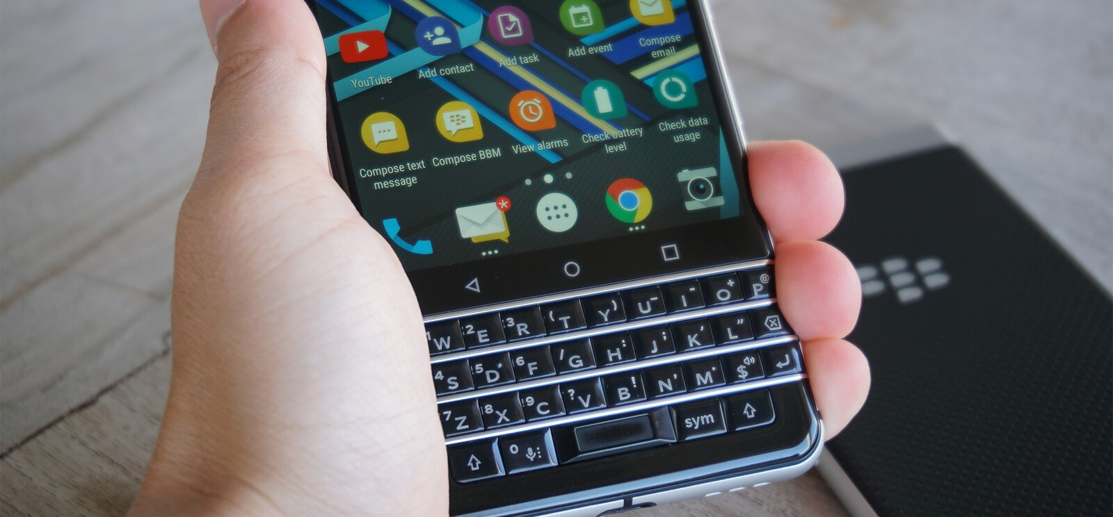 How to set up Exchange e-mail on the BlackBerry KEYone