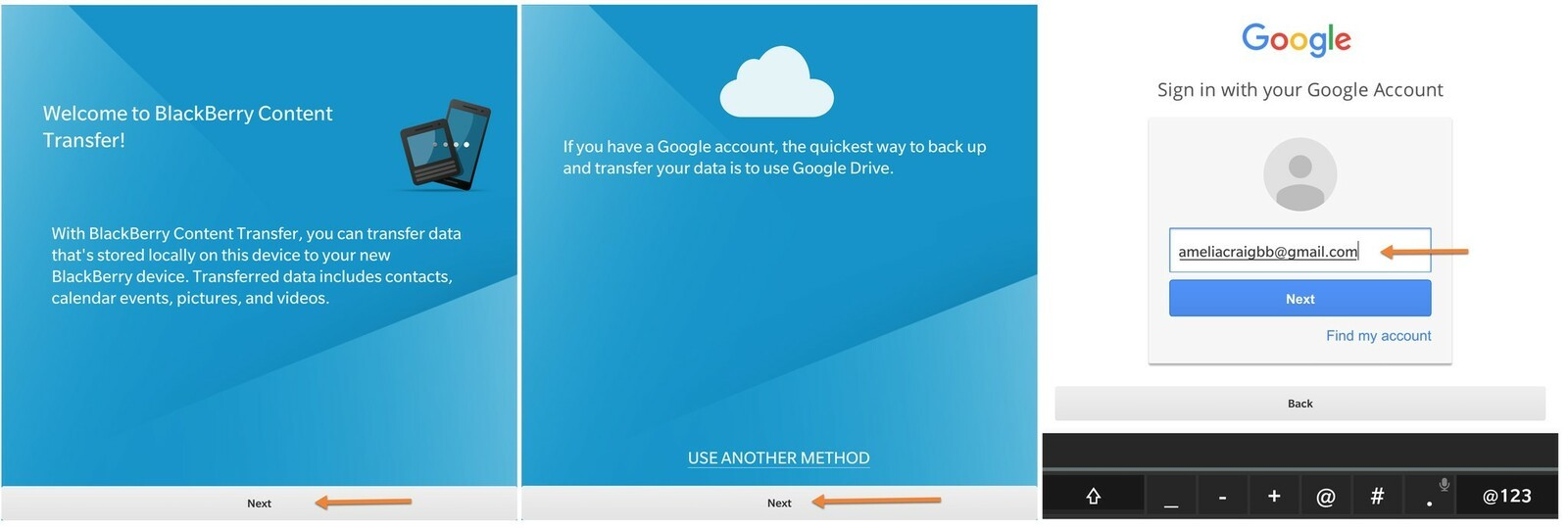 If Your Google Account Is Already Set Up, Read The Terms, And Then Tap Allow  To Continue