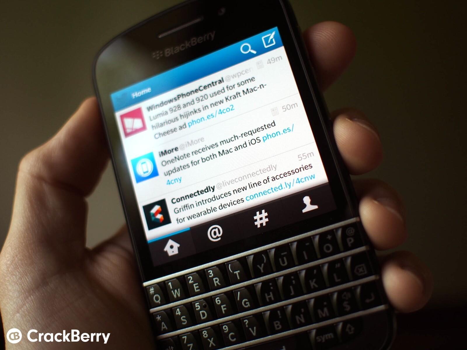 tweeter blackberry
