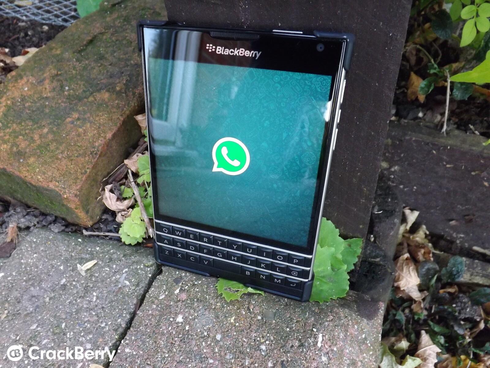 WhatsApp s updated for BlackBerry 10 3 and the Passport