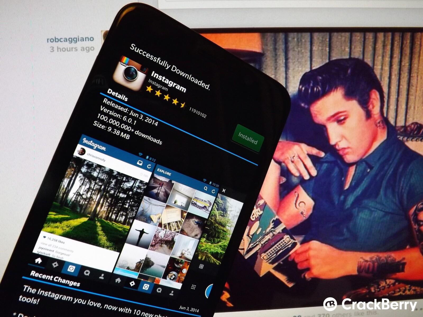 apk instagram for blackberry