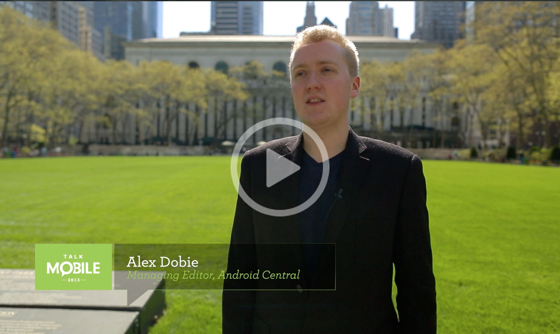 Watch Alex Dobie talk about the future of mobile hardware