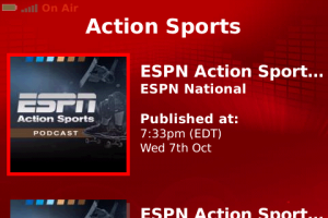 ESPN Radio BlackBerry