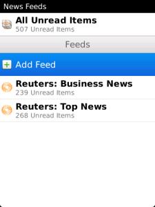 BlackBerry News Feeds
