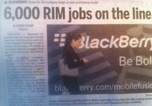 6,000 RIM jobs on the line