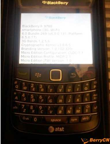BlackBerry Bold 9780 AT&T