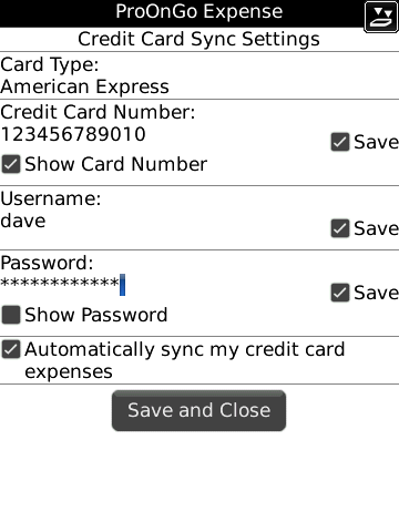 ProOnGo Expense for BlackBerry