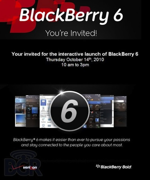 BlackBerry 6 Interactive Launch